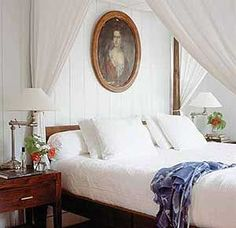 India Hicks' bedroom in the Bahamas.