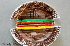 The Activity Mom: Paper Plate Craft - H is for Hamburger