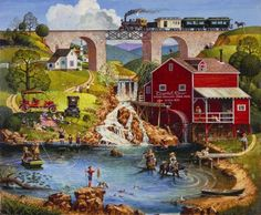 Labor day country scene (99 pieces)