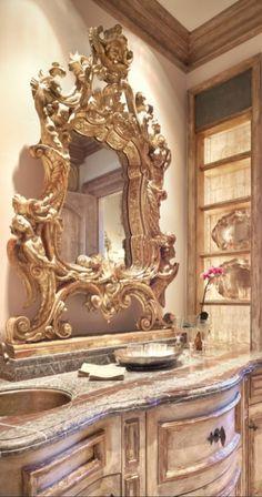 Susan's Shabby Chic saved to Shabby chic World, Mediterranean, Italian, Spanish & Tuscan Homes & Decor Tuscan Style Homes, Tuscan House, Italian Home, Rustic Italian, Tuscan Bathroom Decor, Bathroom Ideas, Tuscan Bedroom, Bathroom Stuff, Bath Ideas