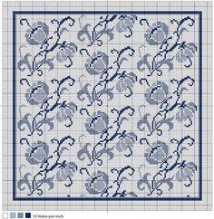 Blue Danube Full-Color Needlepoint Chart