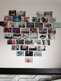 Love how the photo collage is shaped in a heart! also love all the photos on here!