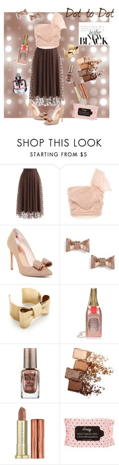 """TULLE We Meet Again"" by joannelibonati ❤ liked on Polyvore featuring Chicwish, RED Valentino, Ted Baker, Kate Spade, Barry M, Maybelline, Urban Decay and Yves Saint Laurent"