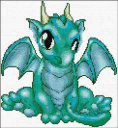 Free Dragon Cross Stitch Pattern - I think I just /squeeeed a bit lol :D