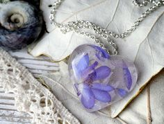 Just lovely gift for you or special person.  This pendant with a real delphinium dried flower.  Please, write me how long you need length of the
