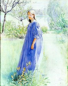 """Carl Larsson (1853-1919), """"Sun And Flowers"""""""