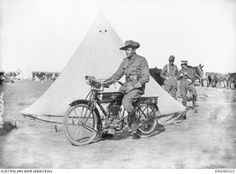 World War 1 cavalry soldier in Africa. Read my Anzac Day tribute to military motorcycles here: http://motorbikewriter.com/anzac-day-tribute-military-motorcycles/