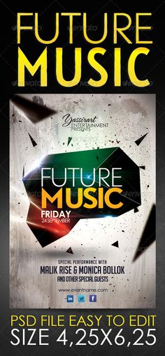 New Age Electro Flyer  Electro Music Flyer Template And Print