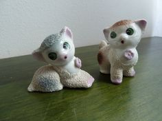 Set of two vintage china porcelain cats by orlova1 on Etsy, $45.00