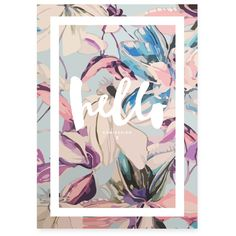 KAMI Hello Spring Print by KAMI. DESIGN made in Germany on CROWDYHOUSE