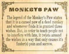 Urban Legend: The Monkey's Paw