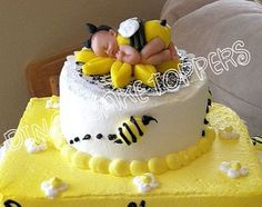 Bumble BEE Cake Topper With Matching Sunflower By DinasCakeToppers