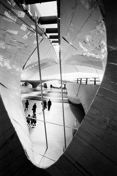 Model of Eero Saarinen's TWA terminal, photographed by Balthazar Korab.