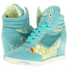 Ed Hardy Women's Sneaky Wedge, Mint, US: Shoes