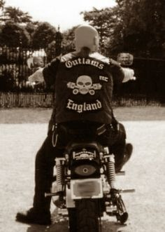 Outlaws Mc South London England Me on My Wide Glide at Hampton Court in 2000