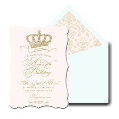 Hey, I found this really awesome Etsy listing at https://www.etsy.com/listing/118712771/princess-invitation-princess-crown