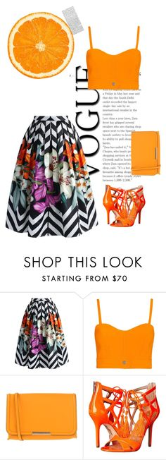 """""""orange"""" by azephyr on Polyvore featuring Chicwish, Carven, Emilio Pucci and Sam Edelman"""
