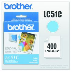 Brother LC51C Innobella Ink, Cyan (Blue) (LC51C)