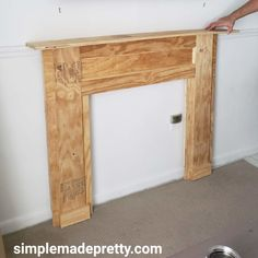 In this tutorial I share How to Build a Faux Fireplace using plywood and basic woodworking skills. Building a faux fireplace has been a huge subject on my Insta Faux Mantle, Farmhouse Fireplace Mantels, Diy Mantel, Fireplace Mantle, Diy Faux Fireplace, Fireplace Modern, Fireplace Decorations, Fireplace Ideas, Fireplaces