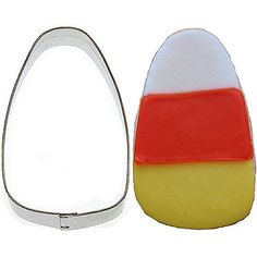 Candy Corn Tin Cookie Cutter 4 B1362 ^^ Additional info @ : Baking Accessories