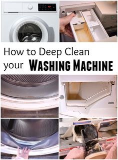 Wie man eine Waschmaschine richtig reinigt: How to get rid of washer stink. A front loading washing machine can have huge issues with mold. But if you've already cleaned it, and there's still a stink, you may want to try this. Deep Cleaning Tips, House Cleaning Tips, Natural Cleaning Products, Spring Cleaning, Cleaning Hacks, Diy Hacks, Cleaning Lists, Cleaning Schedules, Speed Cleaning