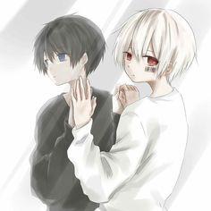 Soraru x Mafumafu Manga Anime, Anime Amor, Chibi Anime, Chibi Boy, Anime Siblings, Anime Child, Neko Kawaii, Ange Demon, Arte Obscura