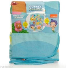 "Nickelodeon Bubble Guppies Sherpa Blanket BNWT Super Soft!! 30""in X 43""   ABC'S #Nickelodeon"