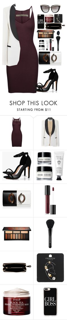 """""""Untitled #1806"""" by rowan-asha ❤ liked on Polyvore featuring Enza Costa, Elie Saab, Boohoo, Bare Escentuals, Kat Von D, MAC Cosmetics, Nomadic, Topshop, Fresh and Casetify"""