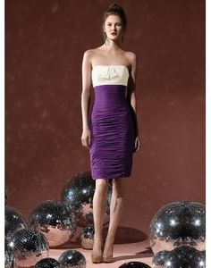 2012 Sexy Strapless Bows Wrap Short Column Bridesmaid Dress