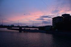 Sunset glow at Nagisa-bashi, Zushi.