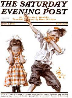 """July 3, 1920 ~ """"Too Much Noise"""", by J.C. Leyendecker... Norman Rockwell Art, Norman Rockwell Paintings, Old Magazines, Vintage Magazines, The Saturdays, Jc Leyendecker, Saturday Evening Post, American Illustration, American Artists"""