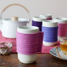 Tea Cozy Craft - Sew these up from wool felt, and let the guests each take one home with them. :) #teaparty