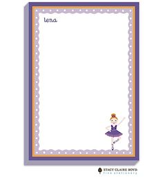Stacy Claire Boyd Lena Ballerina Padded Stationery