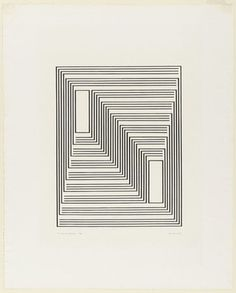 To Monte Alban from the series Graphic Tectonic - Josef Albers (American, born Germany. Somewhat op art to show kids Josef Albers, Anni Albers, Illusion Kunst, Illusion Art, Modern Art, Contemporary Art, Geometric Art, Optical Illusions, Line Art
