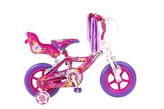 Girls Bike Pink/ White12 Inc Wheels Dolly Carrier Steel Frame Streamers Age 2-4