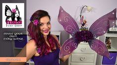 DIY Fairy Wings Tutorial by Freckles Fairy Chest… How To Make Butterfly, Butterfly Fairy, Butterfly Wings, Diy Fairy Wings, Diy Wings, Wings Tutorial, Diy Tutorial, Imagination Toys, Horror Costume