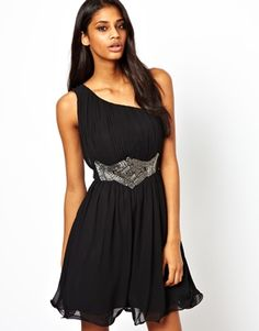 Little Mistress One Shoulder Prom Dress with Embellishment  €74