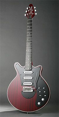"The closest thing to a true replica offered by Brian May Guitars. The finish on this one is called ""Antique Cherry."""
