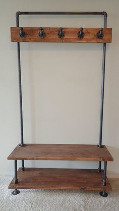 Vintage Industrial Furniture For Your Home - 12 Simple Industrial Diy Furniture Ideas …restoration process for a Do-It-Yourself (DIY) project. Industrial Interior Design, Vintage Industrial Furniture, Industrial House, Rustic Furniture, Modern Furniture, Antique Furniture, Steel Furniture, Diy Industrial Bench, Outdoor Furniture