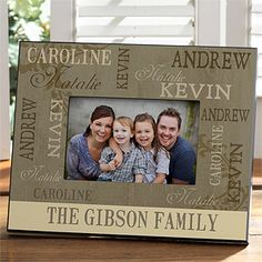 Our Loving Family Personalized Photo Frame