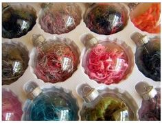 75 Ways to Fill Clear Glass Ornaments { Homemade Christmas Ornaments }