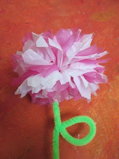 Tutorial on making flowers out of plastic bags - super easy for kids and fun for adults!