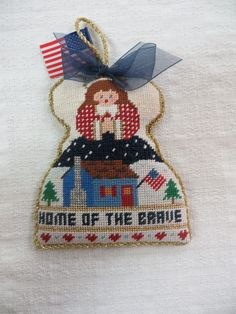 Patriotic angel for a serviceperson