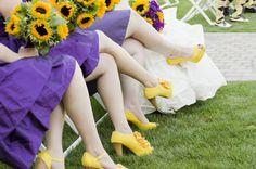 SO. CUTE! I am DEFINITELY having an LSU wedding, and it will DEFINITELY include sunflowers in the bouquets!
