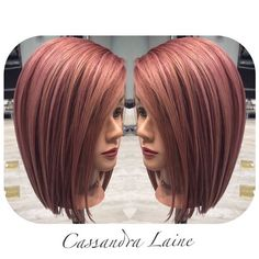 A look back on the first Rose Gold formula I created. And part of the inspiration for @limonetree and I to come up with #mannequinmonday Thanks to @modernsalon for making it so popular! Formula: Paul Mitchell shines XG 7rv9v and clear over level 9 prelightened hair