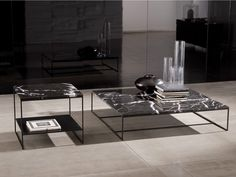 CALDER Natural stone coffee table by Minotti
