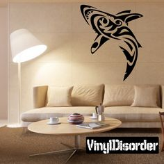 Shark Wall Decal - Vinyl Decal - Car Decal - DC006