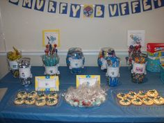 smurf party ideas