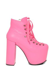 Unif Hellbound Platform Boot-Hot Pink -