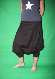 schwarze Haremshose Pumphose Sarouel Baggy von MeinekreativeWelt